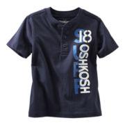 OshKosh B'gosh® Navy Graphic Henley Short-Sleeve Tee - Boys 2t-4t