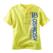 OshKosh B'gosh® Yellow Graphic Henley Short-Sleeve Tee - Boys 2t-4t