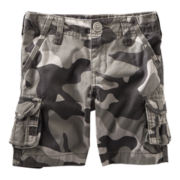 OshKosh B'gosh® Gray Camouflage Cargo Shorts - Boys 2t-4t