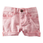 OshKosh B'gosh® Pink Twill Shorts - Girls 2t-4t