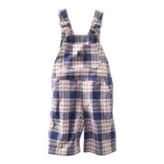 OshKosh B'gosh® Red, White and Blue Plaid Shortalls - Boys 3m-24m