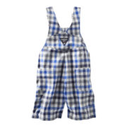 OshKosh B'gosh® Blue and White Plaid Shortalls - Boys 3m-24m
