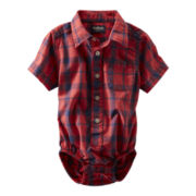 OshKosh B'gosh® Red and Blue Plaid Bodysuit - Boys 3m-24m