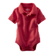 OshKosh B'gosh® Red Piqué Polo Bodysuit - Boys 3m-24m