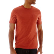 St. John's Bay® Short-Sleeve Heathered Pocket Tee