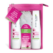 Matrix® Biolage ColorLast Shampoo and Conditioner + Loofah