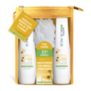Matrix® Biolage SmoothProof Shampoo and Conditioner + Loofah