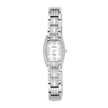 jcpenney.com | Armitron® Now® Womens Crystal-Accent Tonneau Silver-Tone Bracelet Watch