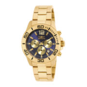 Invicta® Pro Diver Mens Gold-Tone Stainless Steel Chronograph Watch 17402
