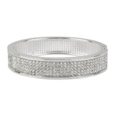 jcpenney.com | Worthington® Crystal-Accent Hinged Bangle Bracelet