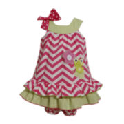 Bonnie Jean® Chevron and Gingham Dress - Baby Girls newborn-24m
