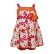 Bonnie Jean® Butterfly and Polka Dot Dress – Baby Girls newborn-24m