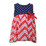 Bonnie Jean® Americana Chevron Dress - Baby Girls newborn-24m