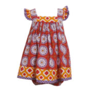 Bonnie Jean® Flutter-Sleeve Print Dress - Baby Girls newborn-24m
