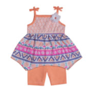 Little Lass Tribal-Print Top and Shorts Set - Baby Girls 3m-24m