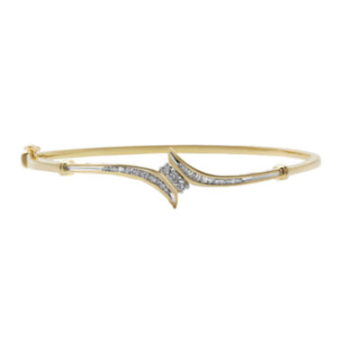 jcpenney.com | 1/3 CT. T.W. Diamond 10K Yellow Gold 3-Stone Bypass Bracelet