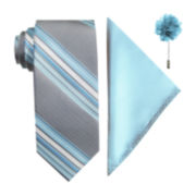 JF J. Ferrar® 3-pc. Tie, Pocket Square and Lapel Pin Set
