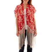 MNG by Mango® Sleeveless Fringe Kimono