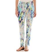 Liz Claiborne® Cuffed Print Soft Pants