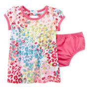 Okie Dokie® Back-Bow Dress – Baby Girls newborn-24m