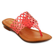 Liz Claiborne® Jilliana T-Strap Sandals