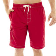St. John's Bay® Solid Cargo Swim Trunks
