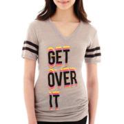 City Streets® Short-Sleeve Graphic Tunic T-Shirt