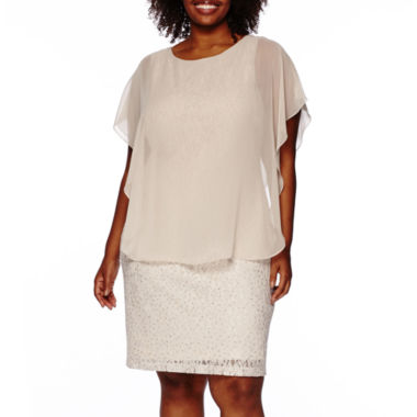 jcpenney.com | Scarlett Overlay Lace Sheath Dress - Plus