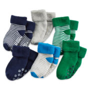 Carter's® 6-pk. Terry Striped Socks - Baby Boys newborn-24m