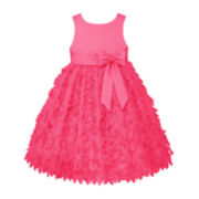 American Princess Sleeveless Petal Skirt Dress - Girls Plus