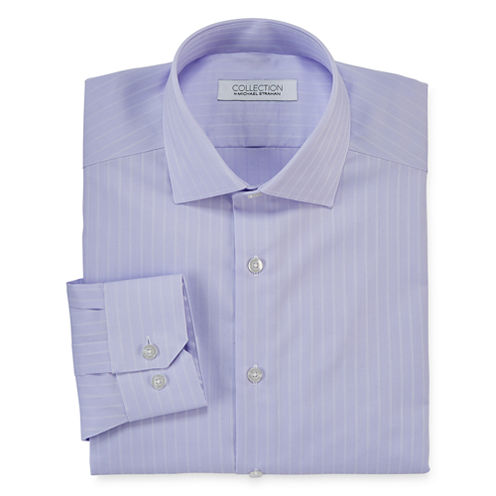 Collection by Michael Strahan Long-Sleeve Stretch Cotton Dress Shirt - Big & Tall