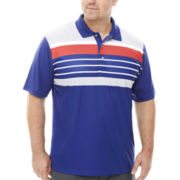 PGA TOUR® Golf Short-Sleeve Stripe Polo - Big & Tall