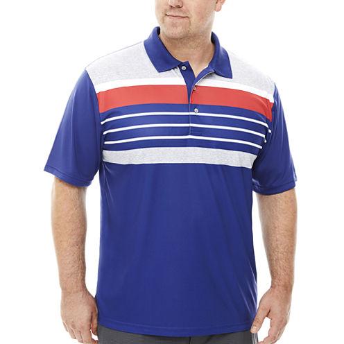 PGA TOUR® Golf Short-Sleeve Stripe Polo - Big & Tall