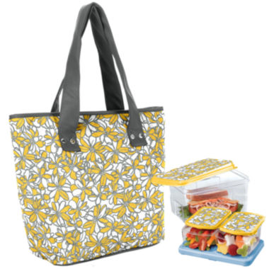 jcpenney.com | Fit & Fresh® Greenville Soft Flowers 5-pc. Lunch Kit