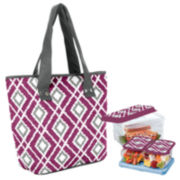 Fit & Fresh® Greenville Diamond Ikat 5-pc. Lunch Kit