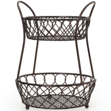 jcpenney.com | Gourmet Basics By Mikasa® Loop & Lattice 2-Tier Basket