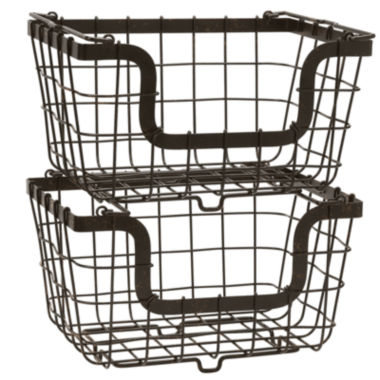 jcpenney.com | Gourmet Basics by Mikasa® General Store 2 Stacking & Nesting Baskets