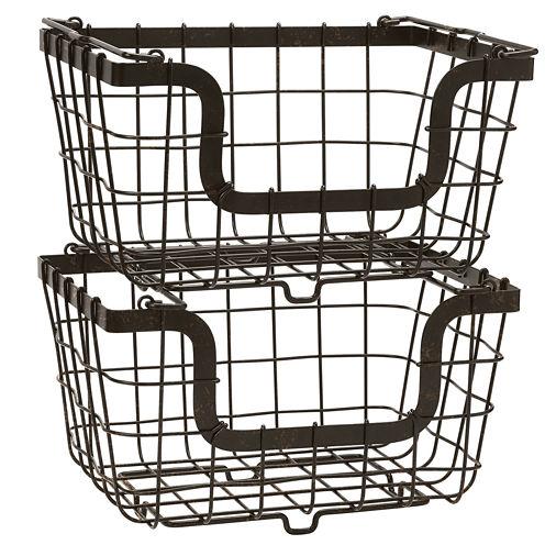 Gourmet Basics by Mikasa® General Store 2 Stacking & Nesting Baskets