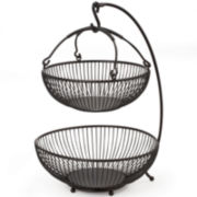 Gourmet Basics by Mikasa® Sprindle 2-Tier Basket with Banana Hook