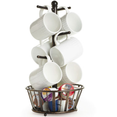jcpenney.com | Gourmet Basics by Mikasa® Band & Stripe Mug Tree with Bottom Basket