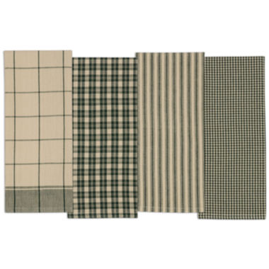 jcpenney.com | Design Imports Evergreen Set of 4 Kitchen Towels