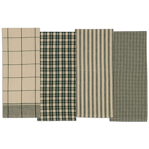 Design Imports Evergreen Set of 4 Kitchen Towels