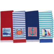Design Imports Nautical Summer Set of 4 Kitchen Towels