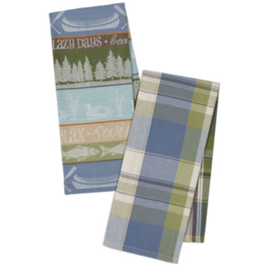 jcpenney.com | Design Imports Lake House Jaquard Set of 4 Kitchen Towels