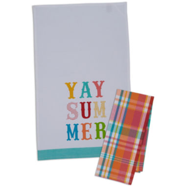 jcpenney.com | Design Imports Yay Summer Set of 4 Kitchen Towels