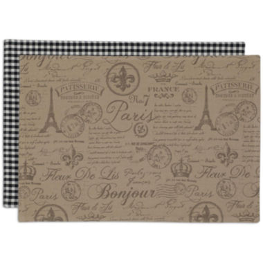 jcpenney.com | Design Imports French Flourish Set of 6 Reversible Placemats