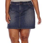 St. John's Bay® Denim Skort - Plus
