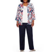 Alfred Dunner® All Aboard 3/4-Sleeve Two-For-One Sweater or Pull-On Pants