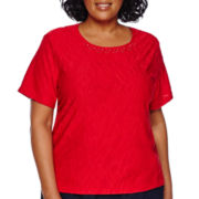 Alfred Dunner® All Aboard Short-Sleeve Textured Tee - Plus