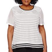 Alfred Dunner® Short-Sleeve Weekend Oasis Stripe Tee - Plus